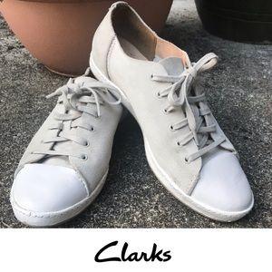 Clarks Artisan Pawley Springs Suede Beige Sneakers
